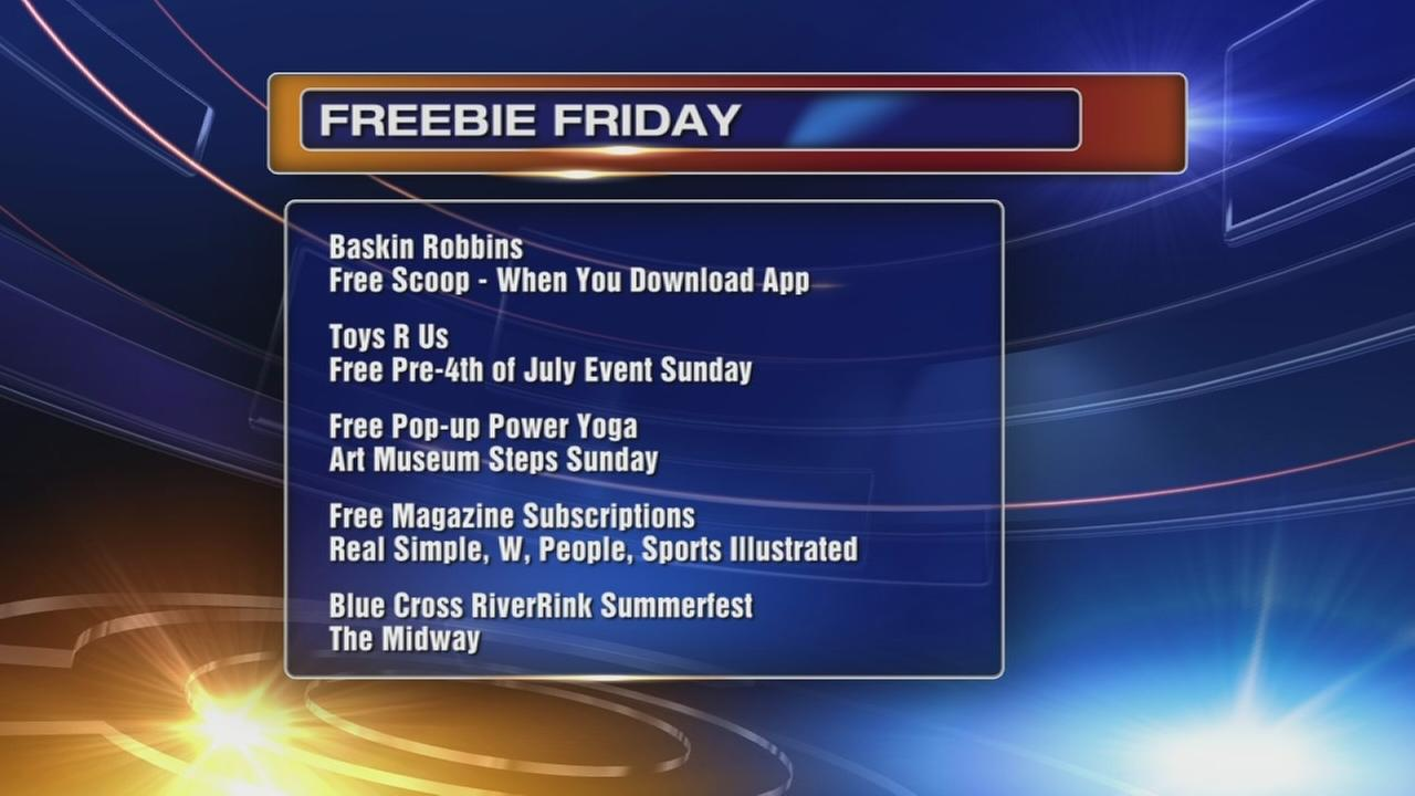 Freebie Friday: ice cream, balloons, yoga and more!