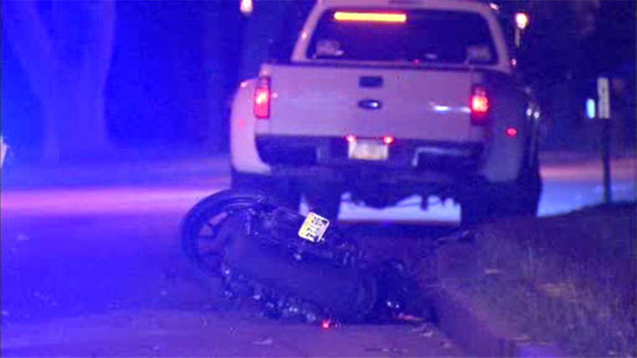 Motorcyclist injured in Fairmount Park crash