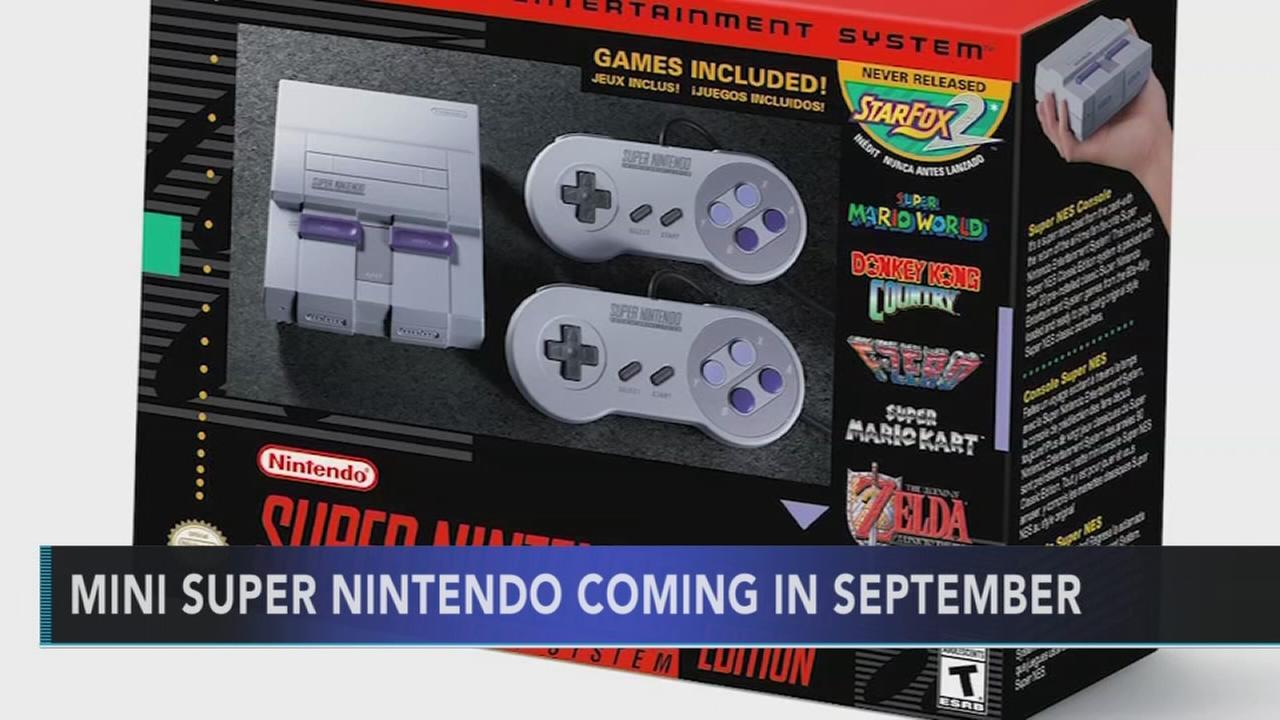 Mini Super Nintendo coming in September
