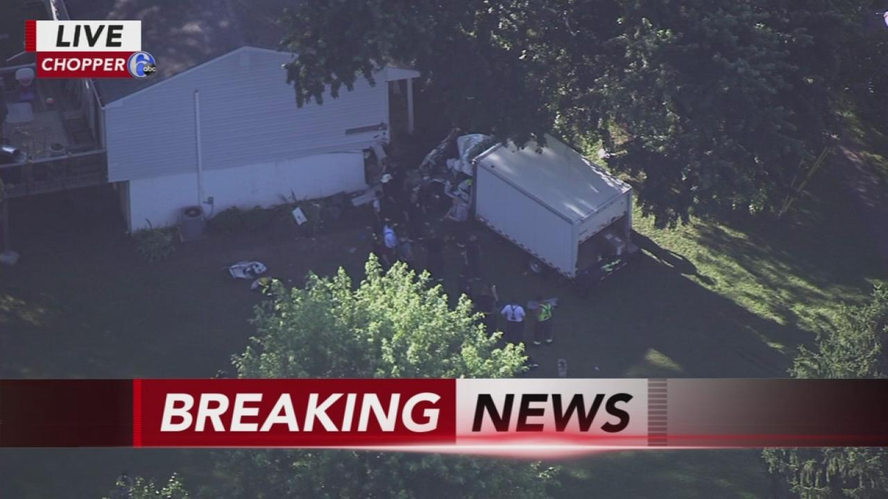 Truck crashes into Montgomery County house