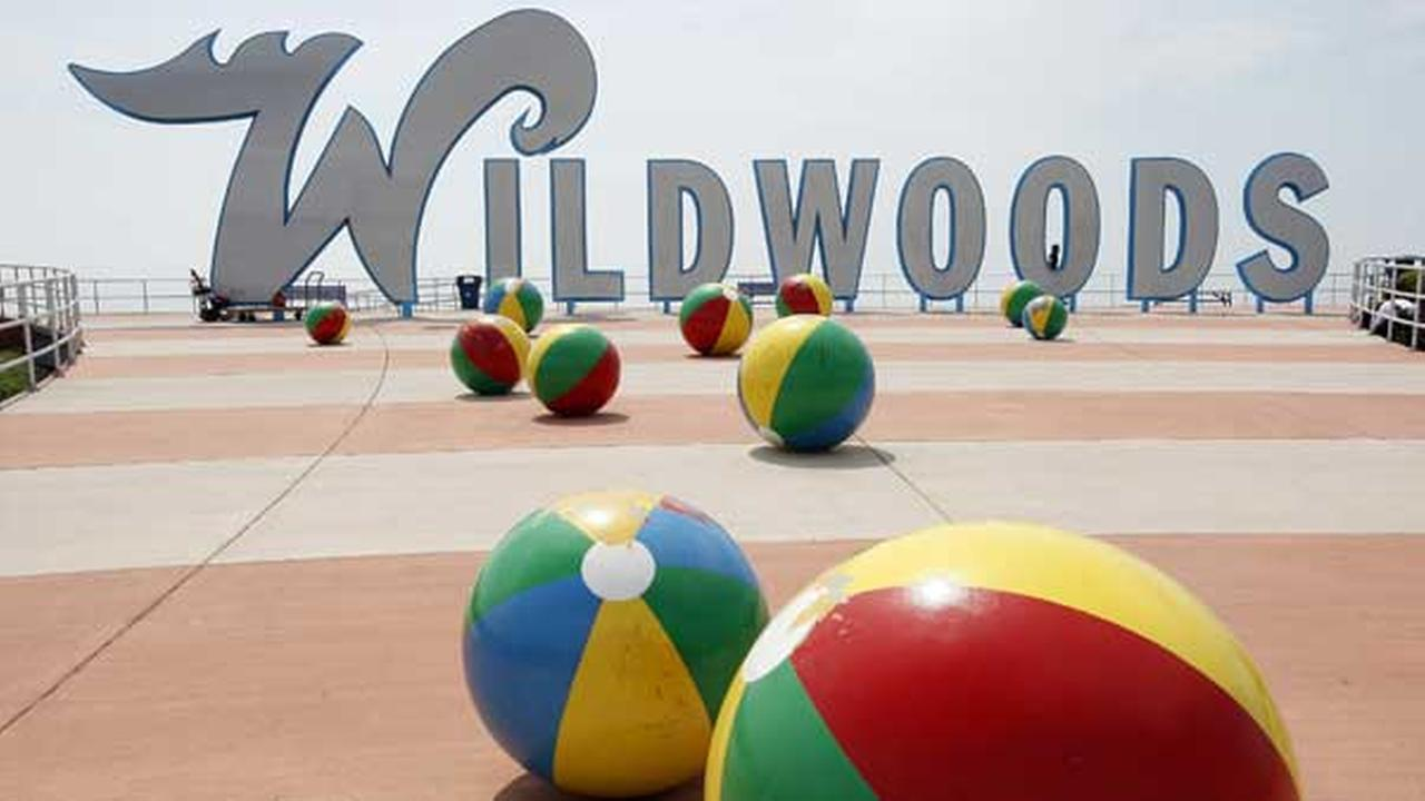 FILE In this Thursday, May 27, 2010 file photograph, the famous Wildwoods sign is seen on the boardwalk in Wlidwood, N.J.