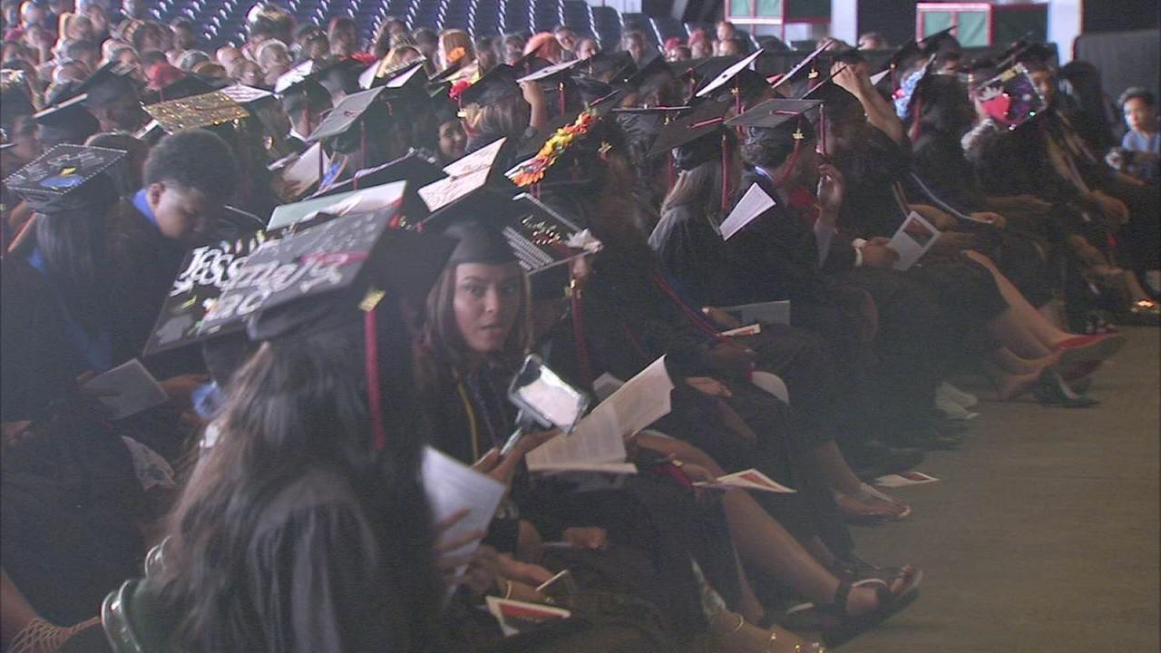 Leap Academy University Charter school graduation