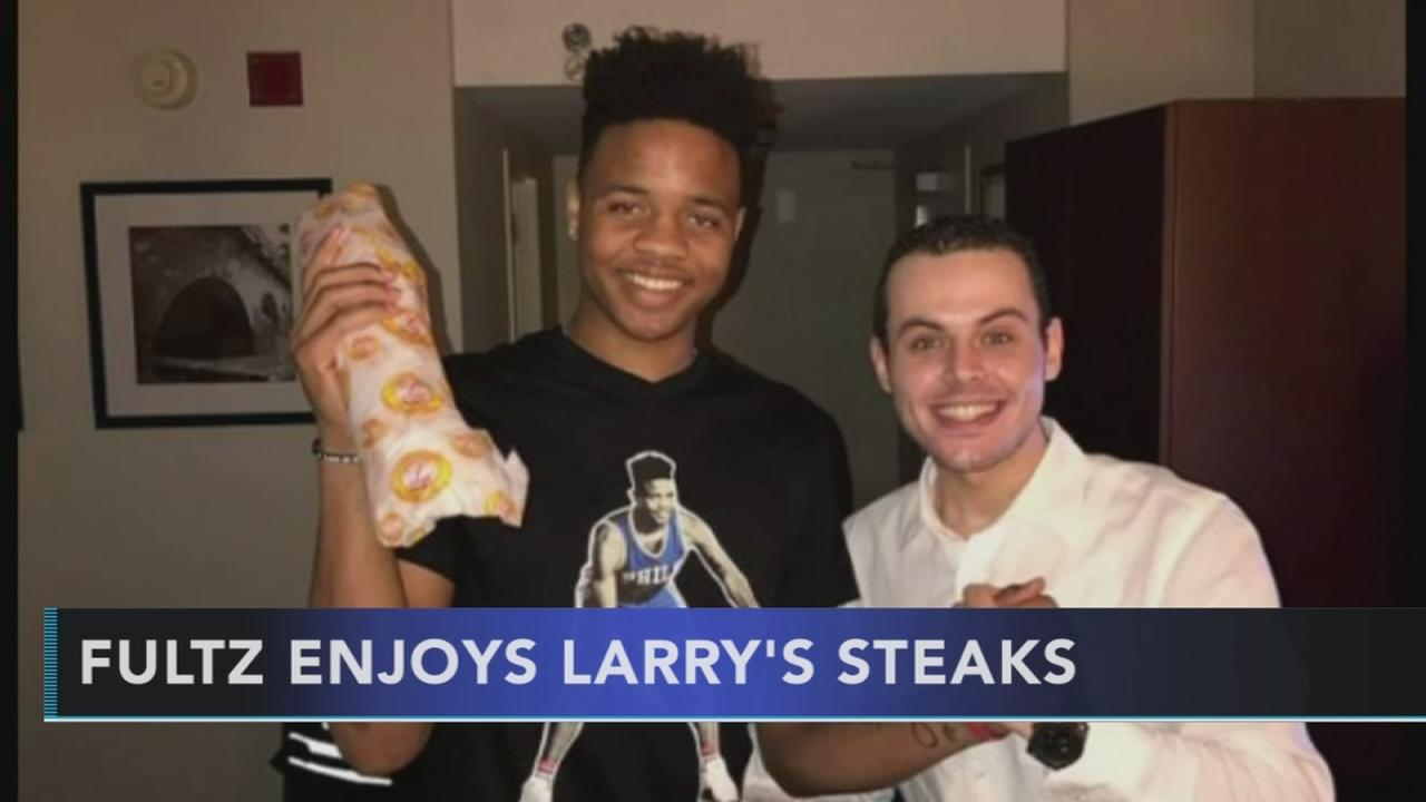 Fultz enjoys Larrys Steaks
