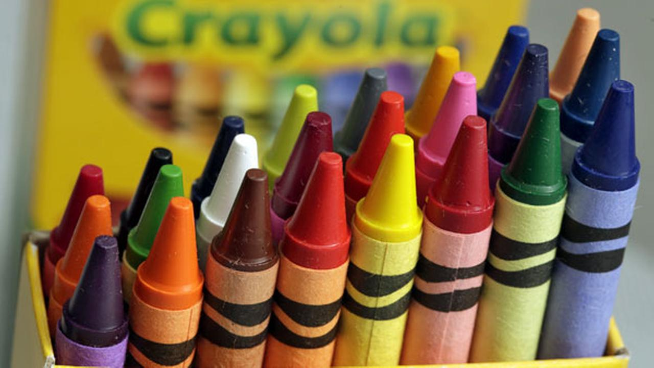 A 24-count box of Crayola crayons are shown, Tuesday, March 28, 2017, in New York.