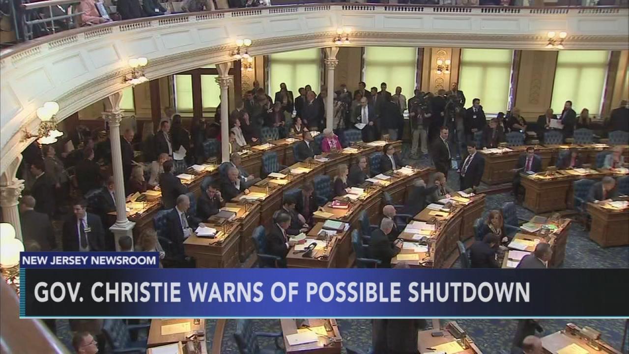 Govt shutdown looms in NJ