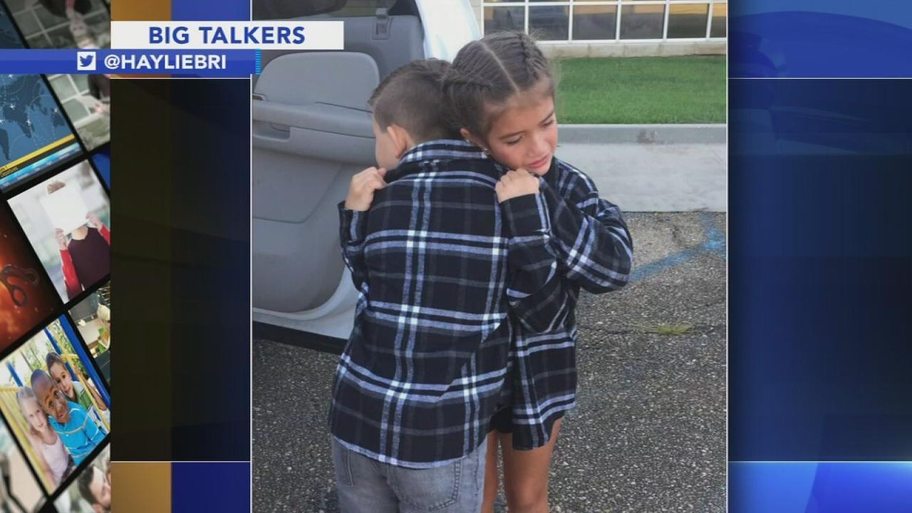 Tweet of 9-year-old couple saying tearful goodbye goes viral