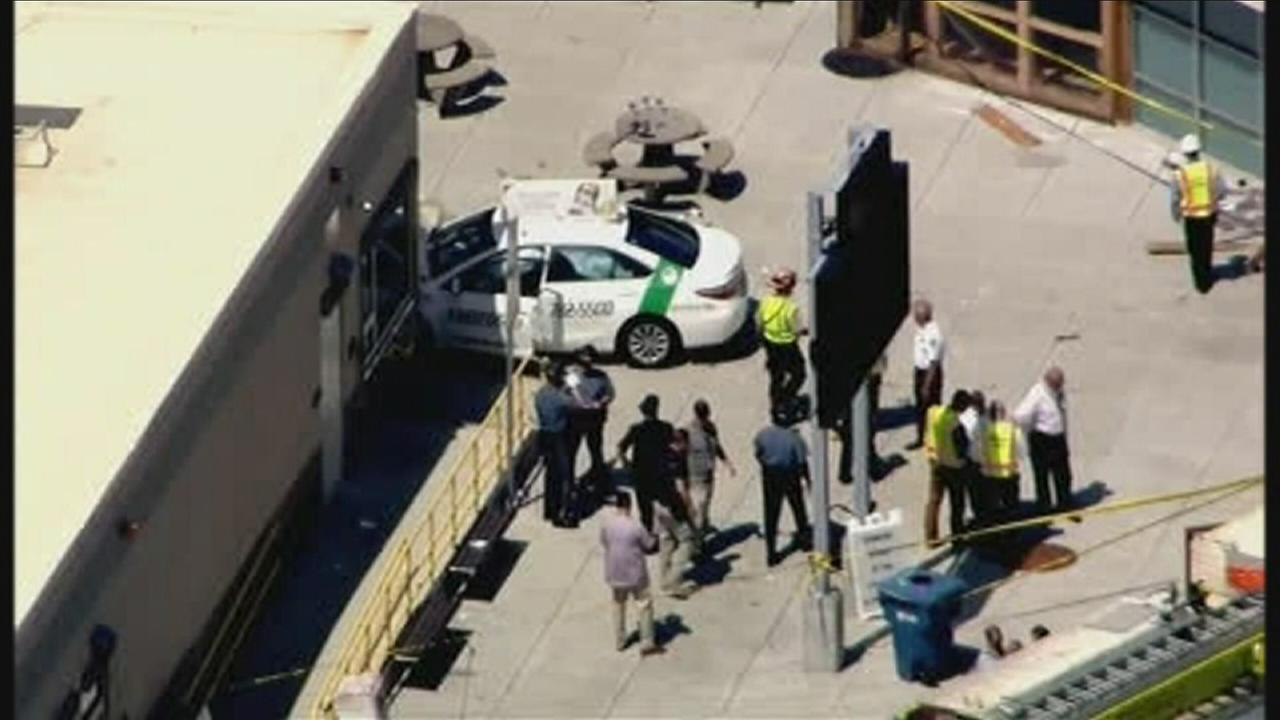 VIDEO: Taxi hits several people in Boston
