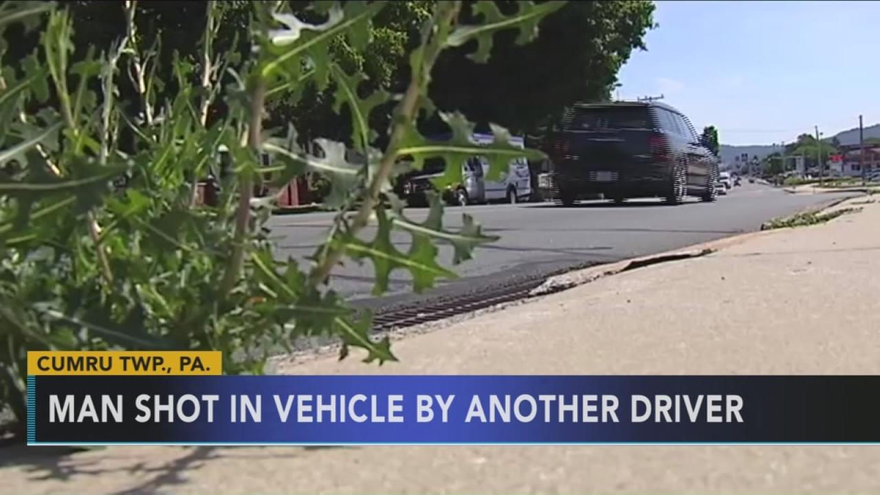 Cops: Driver wounded in Pa., police seeking suspect