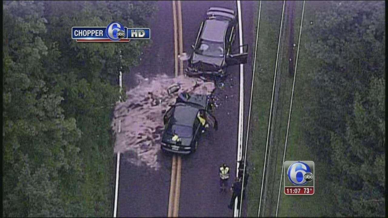 VIDEO: 1 dead in Chalfont head-on crash