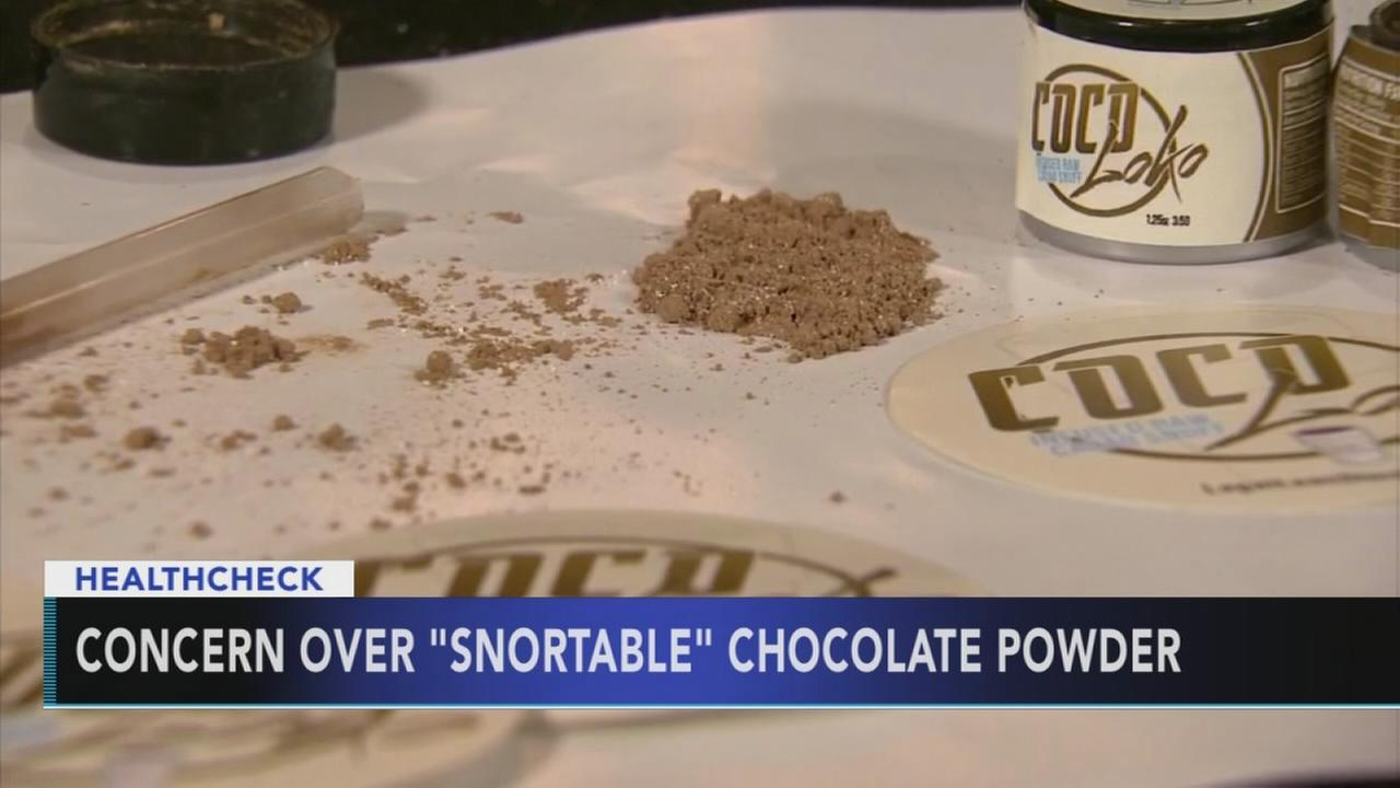 Doctors concerned over new snortable chocolate powder