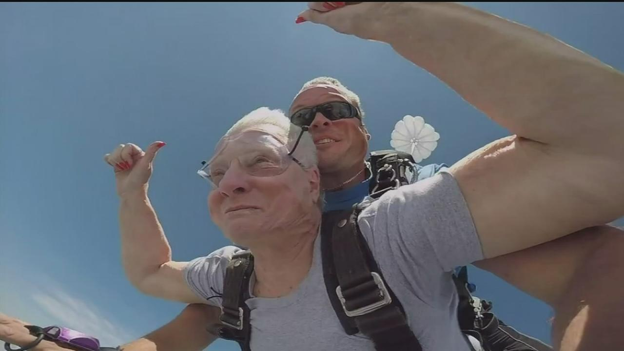 Jump of a lifetime for 2 octogenarians
