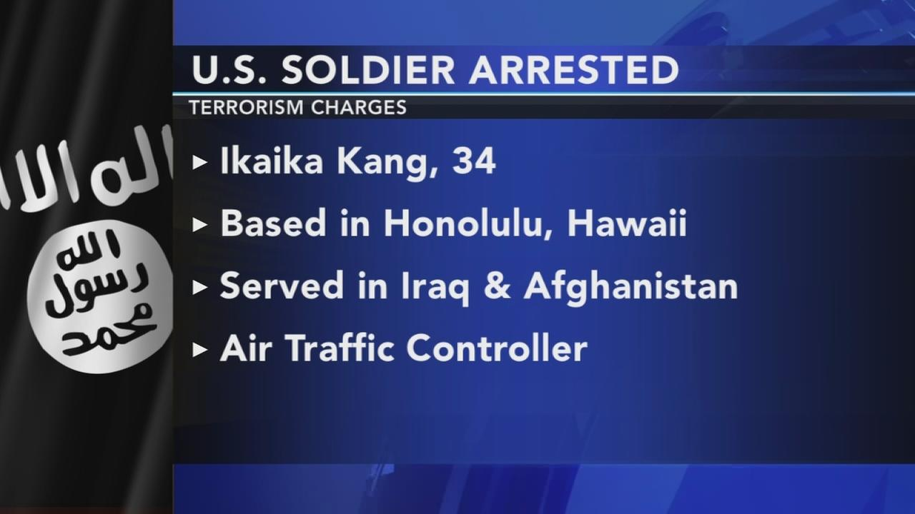 US soldier arrested in terrorism charges