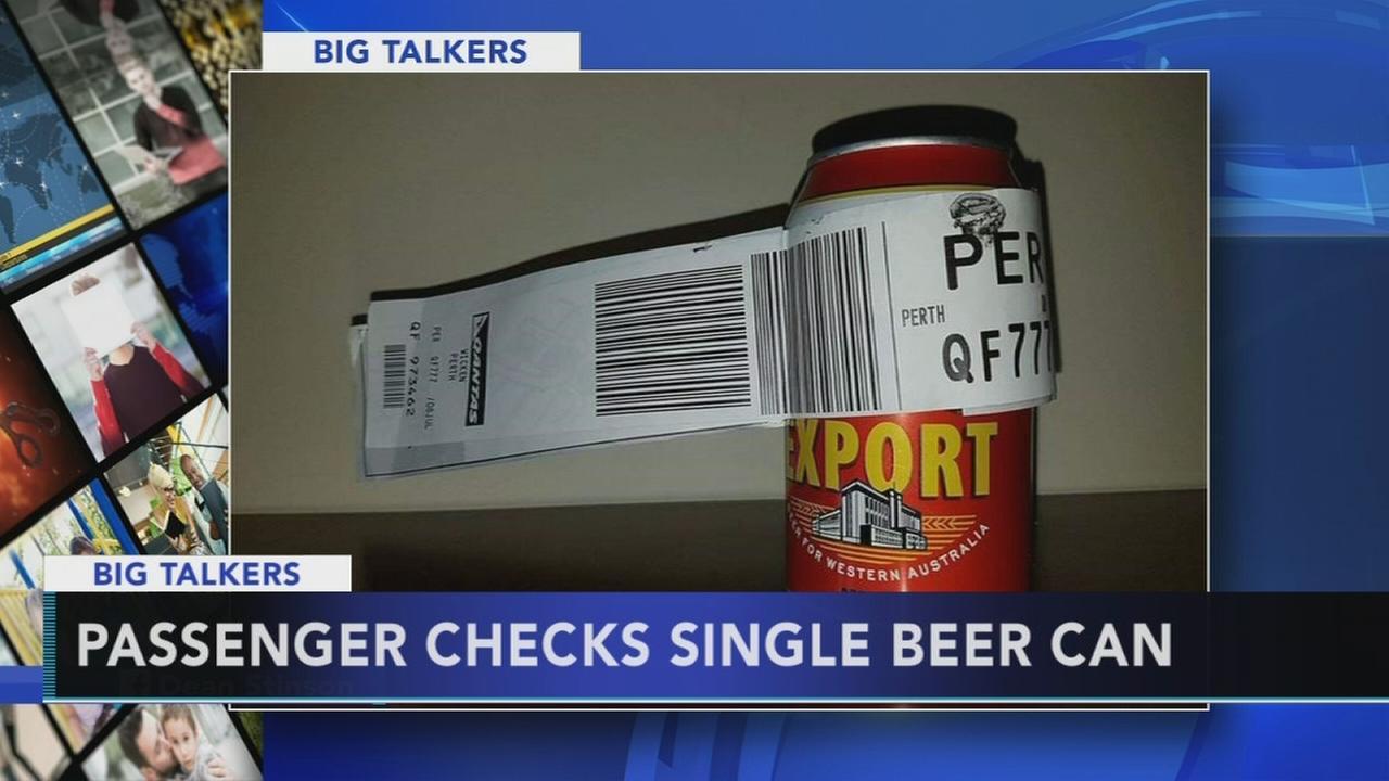Australian man checks single beer can as luggage on flight