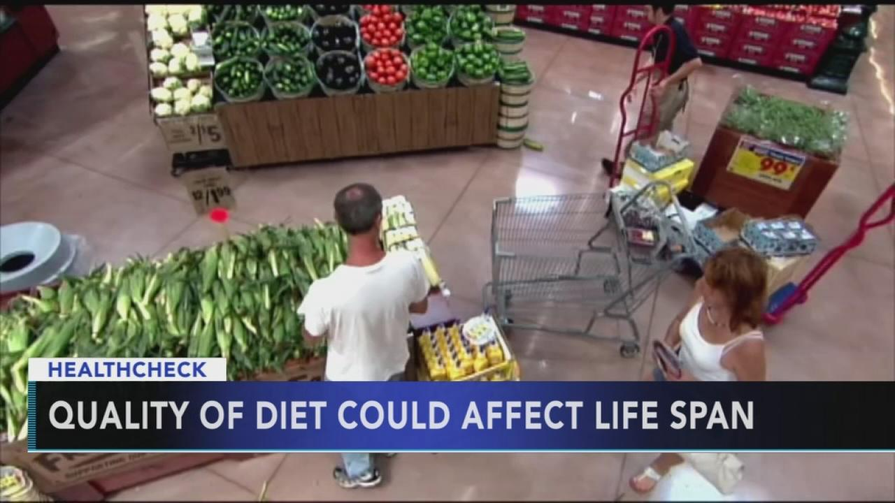 Researchers say quality of diet could affect life span