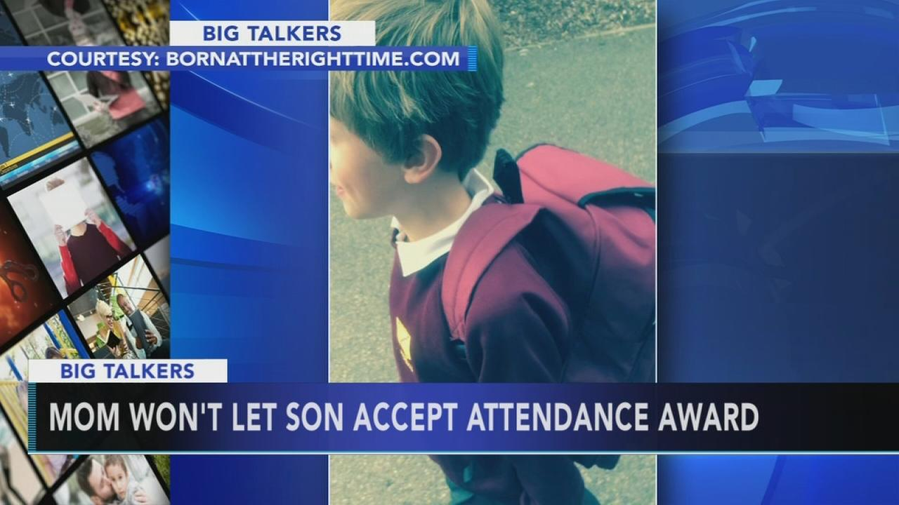 Mom wont let son accept school award for perfect attendance