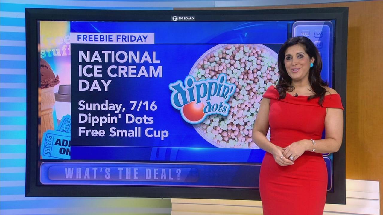 Freebie Friday: Ice cream, movies and more!