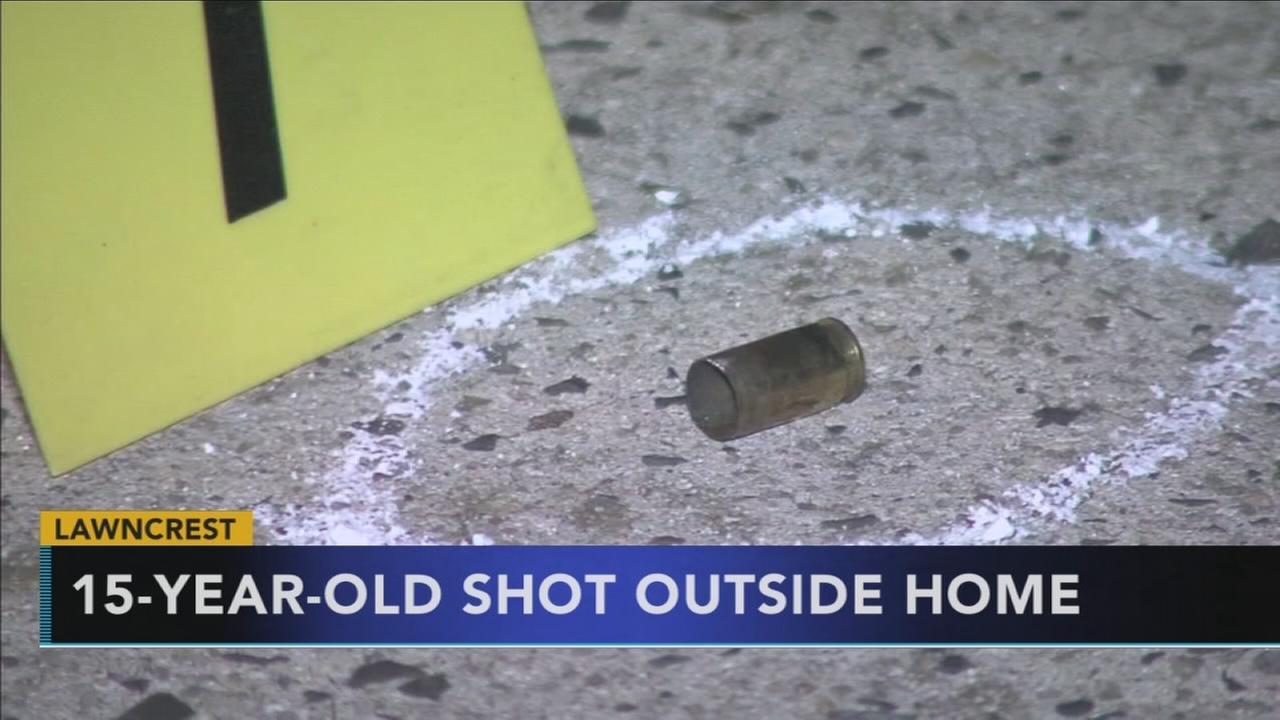 15-year-old shot outside Lawncrest home