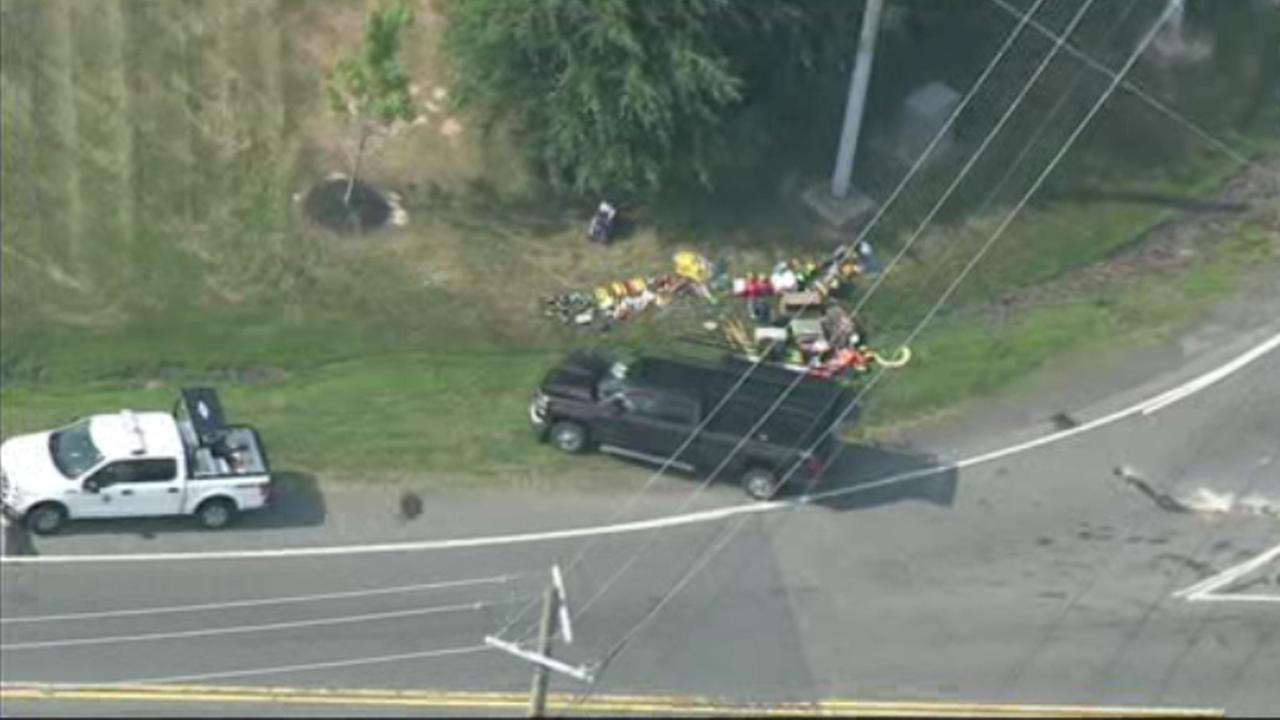 Delaware State Police are on the scene of an accident involving a bus carrying children.