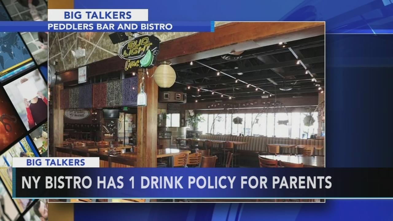 NY bistro has 1 drink policy for parents