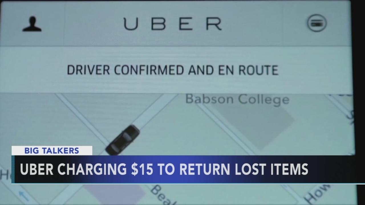 Uber charging customers to return lost items
