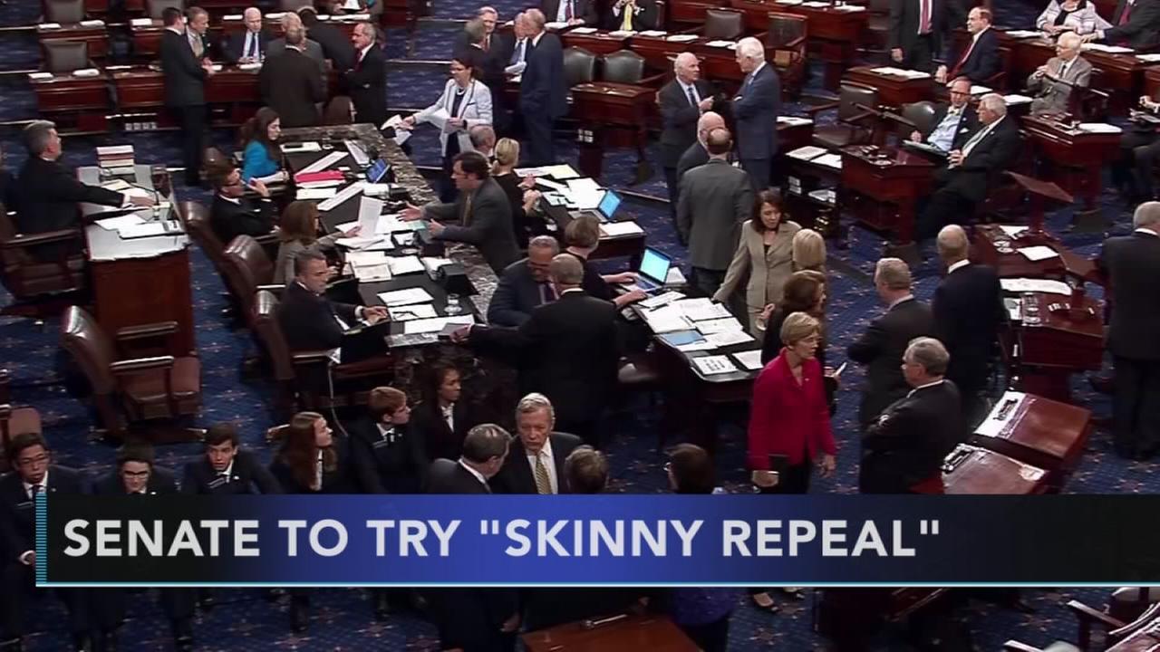 Senate Republicans eye skinny repeal of Obamacare