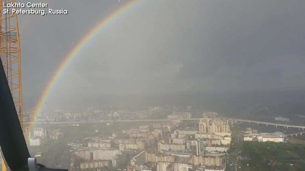 VIDEO: Rainbow in Russia