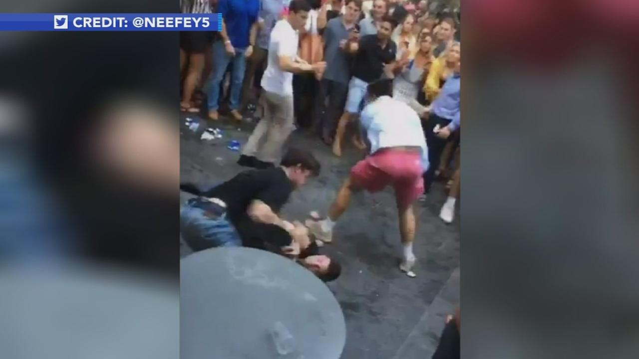 Brawl during Center City Sips