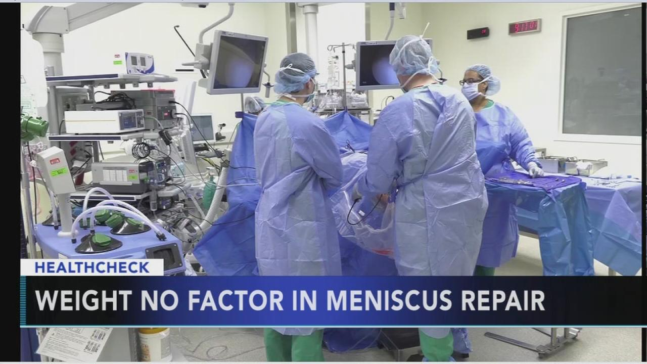 Doctors say weight is not a factor when having knee repair surgery