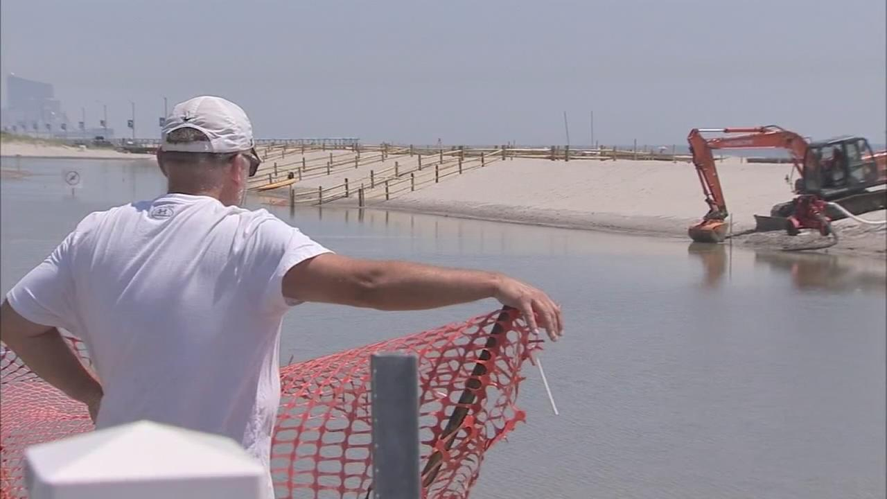 Dune flooding cleanup in Margate