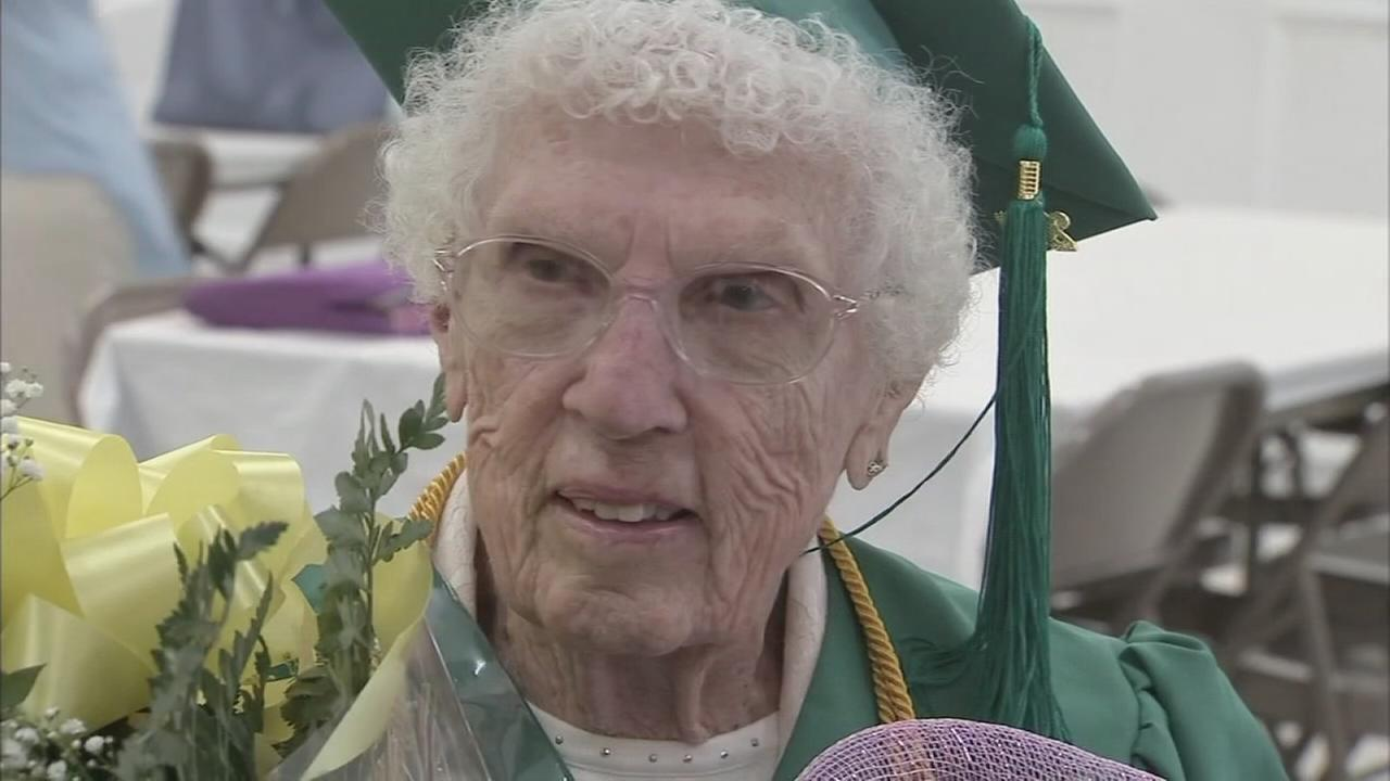Graduation day for 96-year-old Leona Paulus