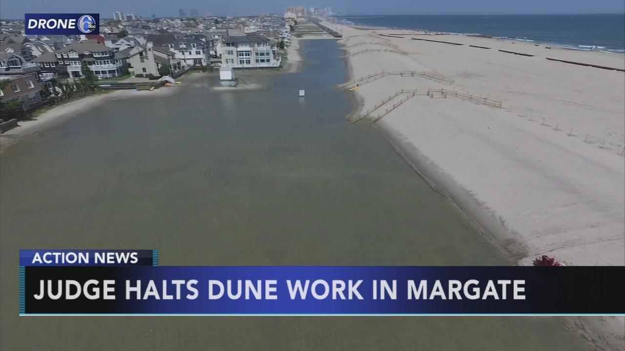Judge orders halt to Margate sand dune project