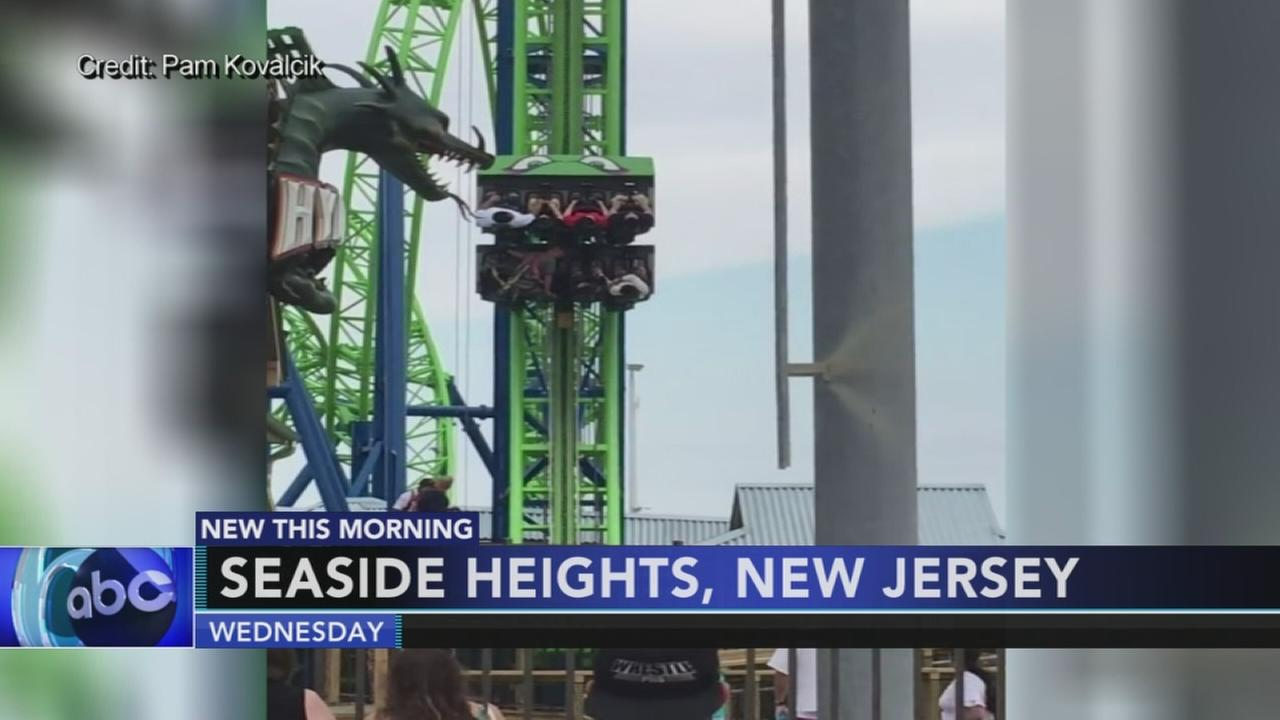 Riders stranded on stuck ride