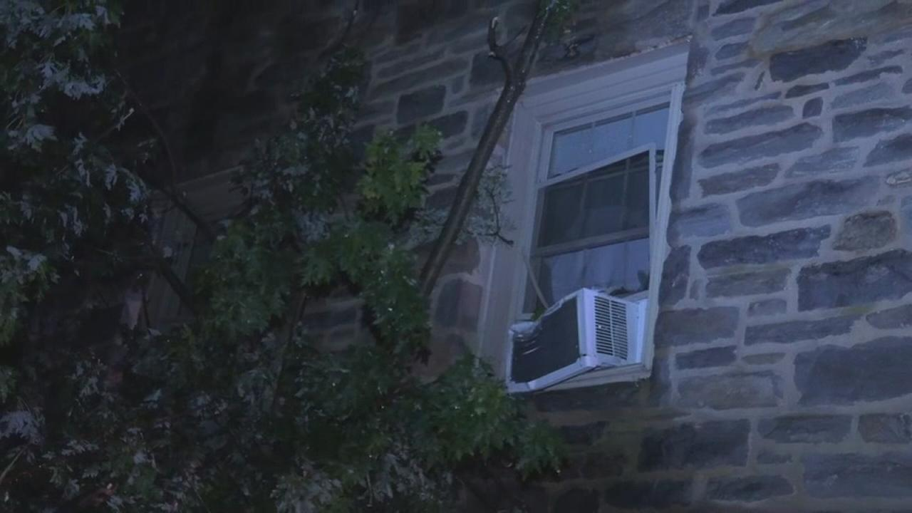 Downed tree causes damage to Ardmore apartment building