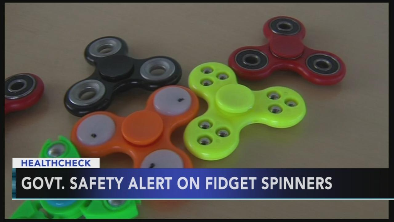 Government issues new safety alert on fidget spinners