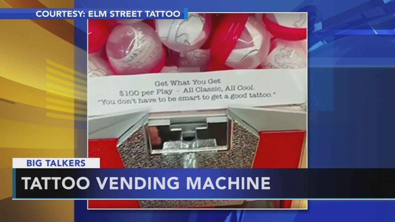 Tattoo parlor lets gumball machine choose your next design