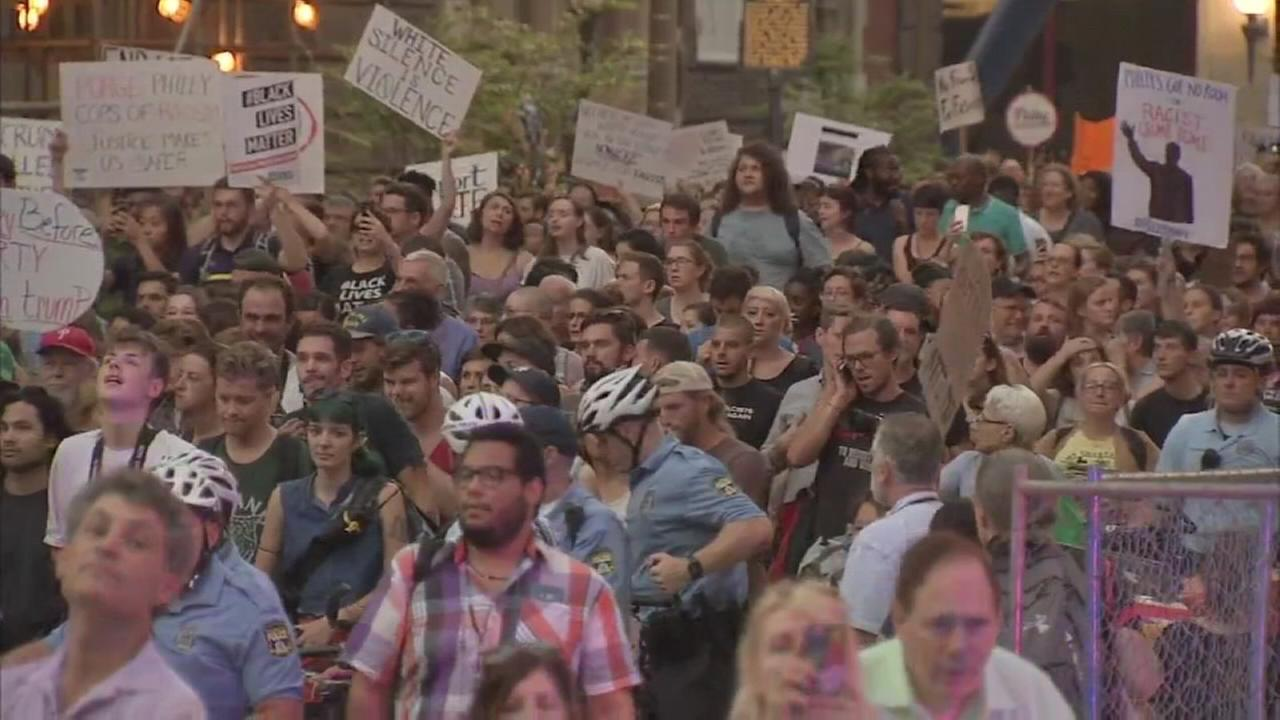 Philly is Charlottesville marched against racism in Center City