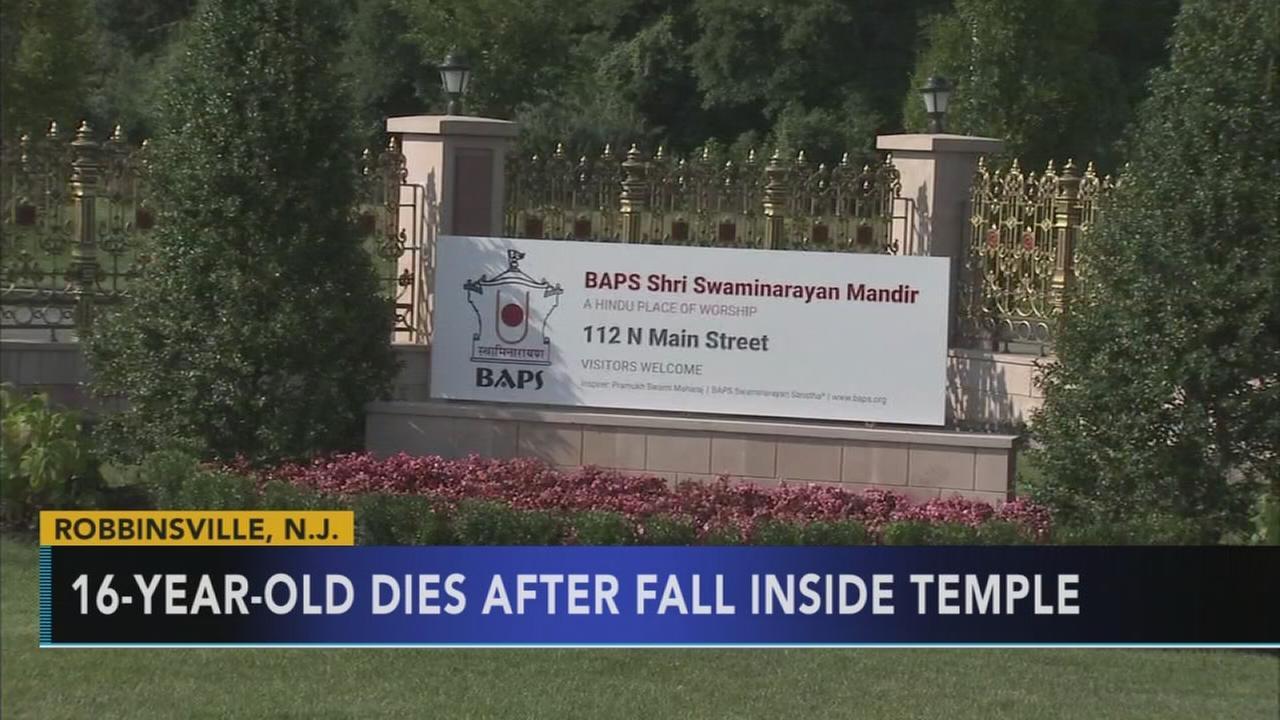 VIDEO: Teen dies after fall inside N.J. temple