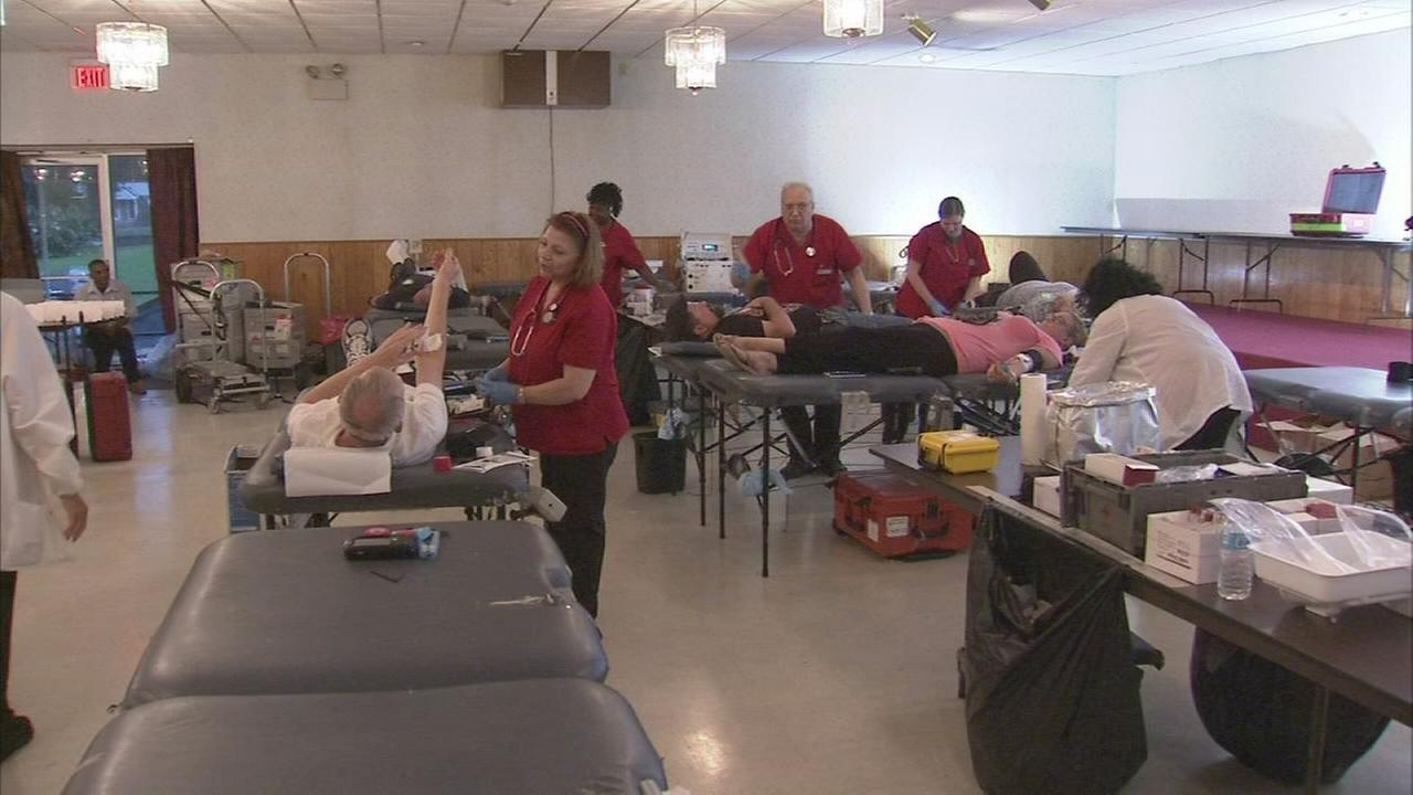 Delco Blue Gives Red Blood Drive