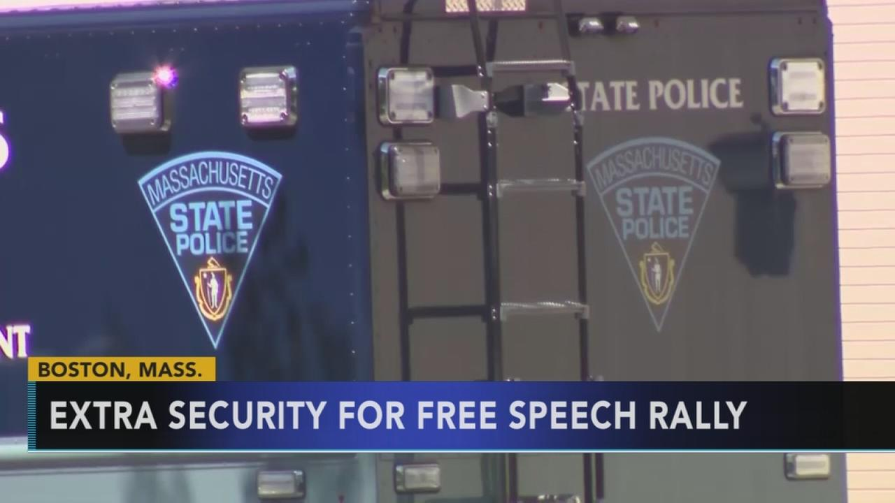 Extra security planned for Boston free speech rally