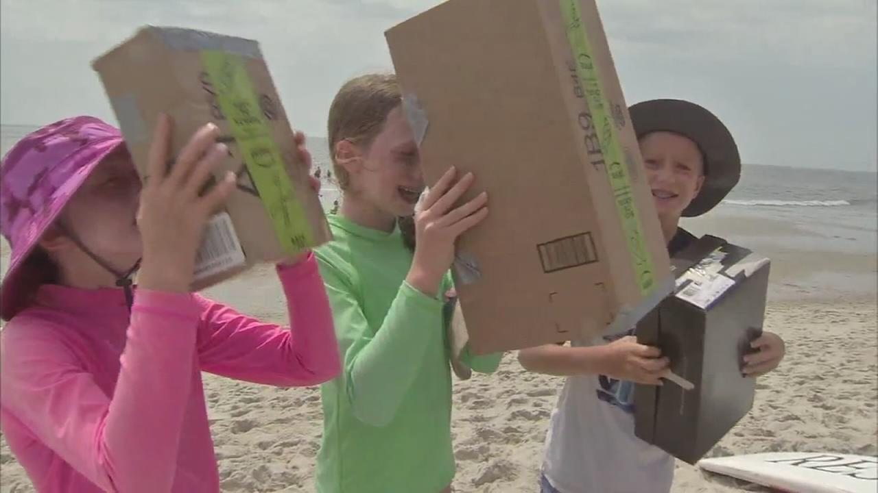 VIDEO: Beach eclipse viewing in Cape May