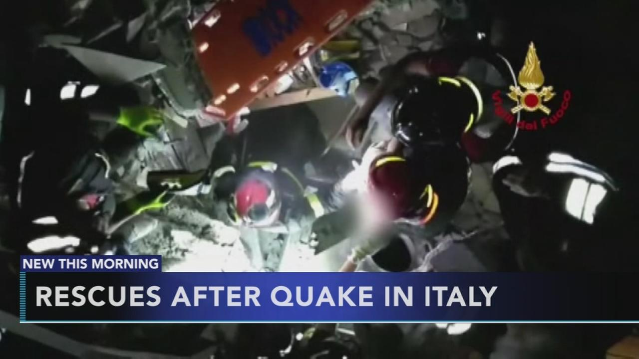 3 children pulled from rubble on quake-hit Italian island