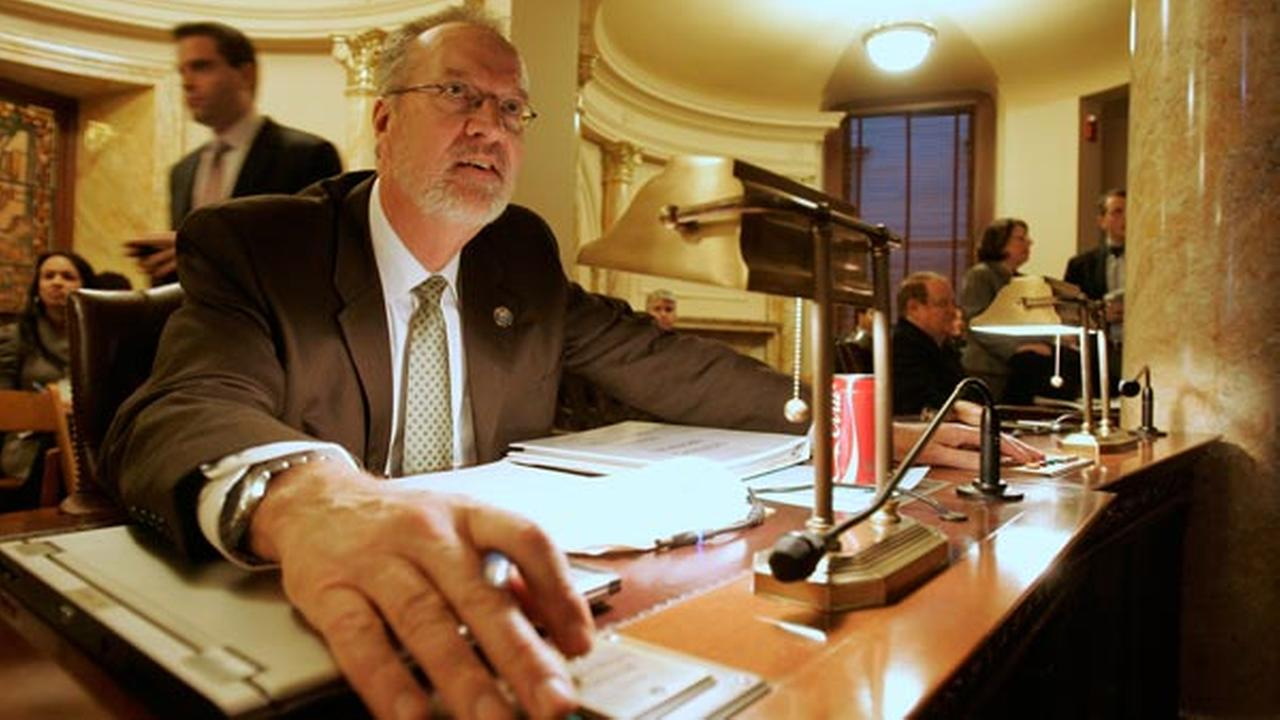 State Sen. Jim Whelan (D-Atlantic) casts a vote in the Senate chamber Monday, Jan. 10, 2011, in Trenton, N.J.