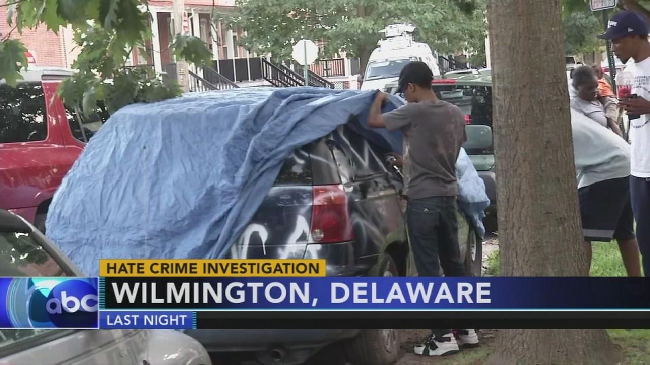 Delaware police investigating car vandalism as hate crime