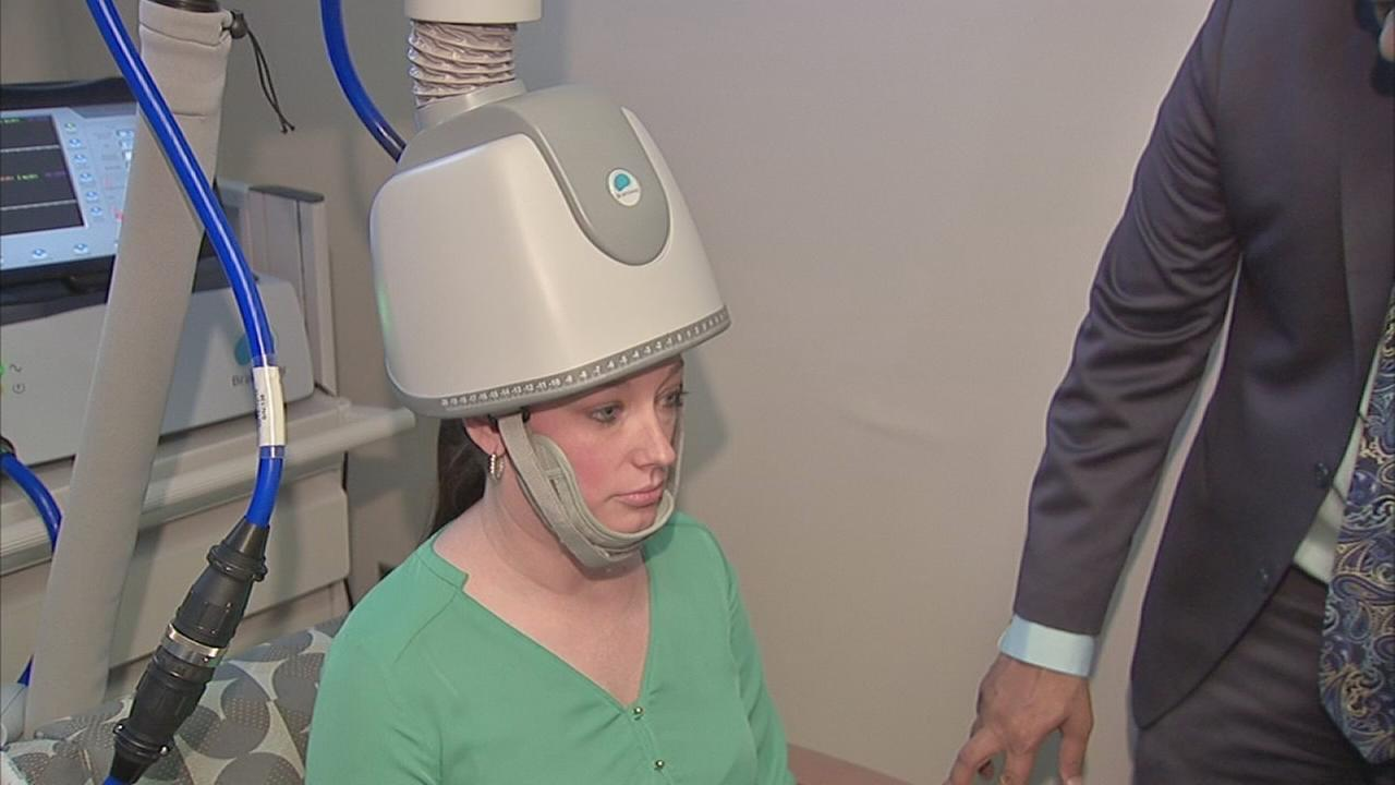 Helmet with magnetic power used to treat depression patients