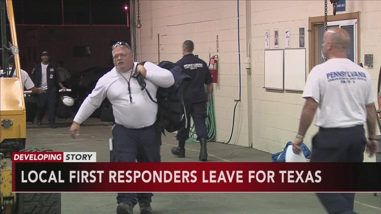 VIDEO: Local first responders leave for Texas