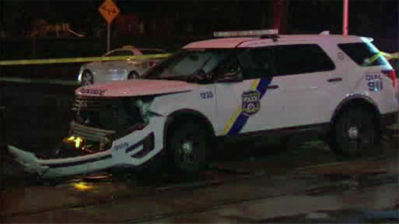 1 hurt in crash involving police SUV in Southwest Philadelphia
