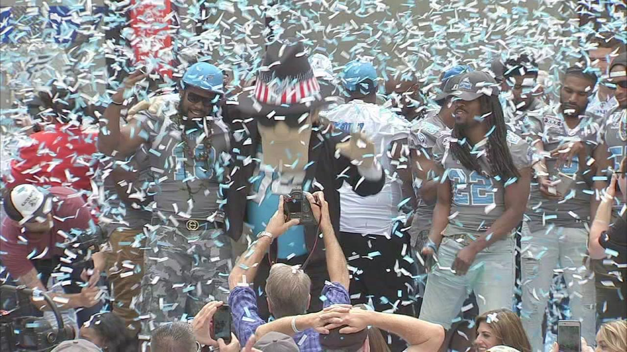 Philadelphia Soul victory rally at Philadelphia City Hall