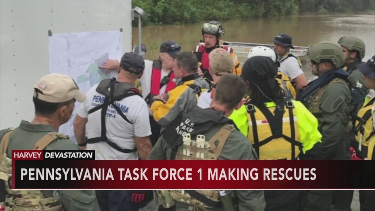 Pennsylvania Task Force One making rescues in Texas
