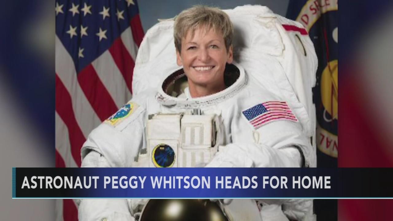 Astronaut Peggy Whitson heads for home