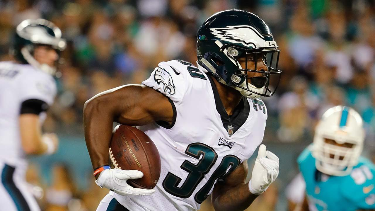 Philadelphia Eagles running back Corey Clement during an NFL preseason football game at Lincoln Financial Field in Philadelphia, Thursday, Aug. 24, 2017.